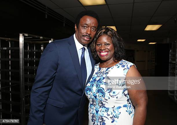 Jim Hill and Retta attend the 2015 CedarsSinai Sports Spectacular at the Hyatt Regency Century Plaza on May 31 2015 in Century City California