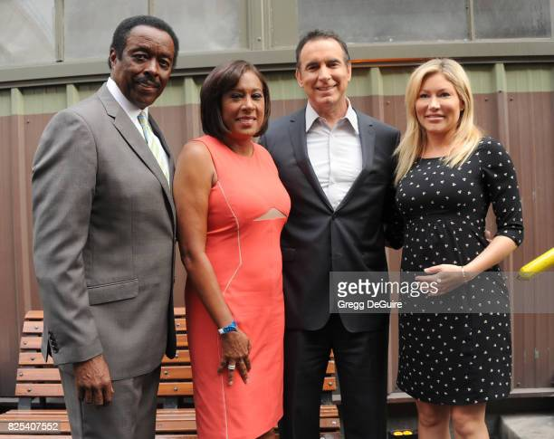Jim Hill Pat Harvey Rick Garcia and Jackie Johnson arrive at the 2017 Summer TCA Tour CBS Television Studios' Summer Soiree at CBS Studios Radford on...