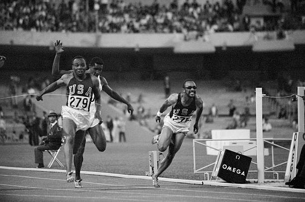 Image result for jim hines 100 metres 1968 images