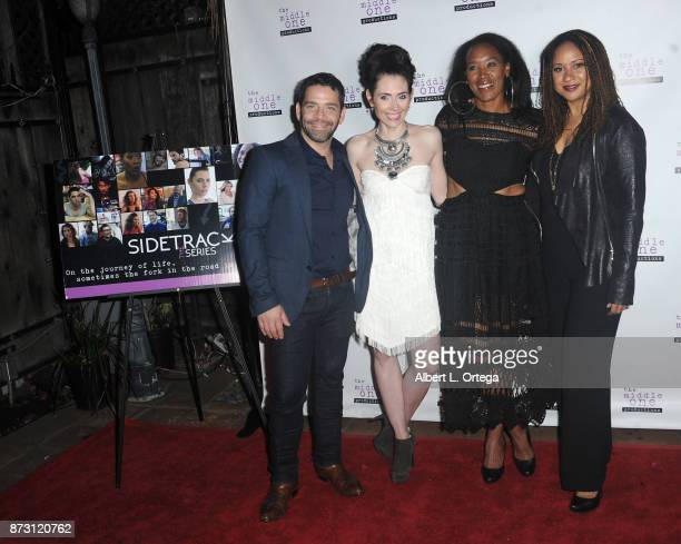 Jim Holdridge Adrienne Wilkinson ED Brown and Tracie Thoms arrive for 'Sidetracked The Series' Special Screening held at The Silent Movie Theater on...