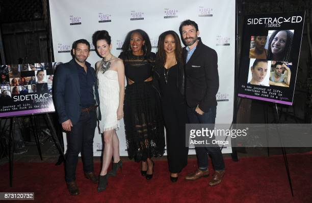Jim Holdridge Adrienne Wilkinson ED Brown Tracie Thoms and Miles Crawford arrive for 'Sidetracked The Series' Special Screening held at The Silent...