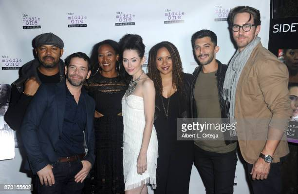 Jim Holdridge Jason E Kelley ED Brown Adrienne Wilkinson Tracie Thoms and Steve Mazurek arrive for 'Sidetracked The Series' Special Screening held at...