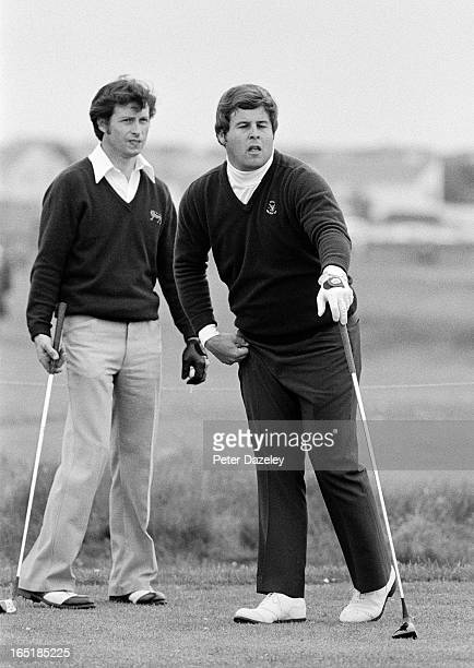Jim Holtgrieve of the United States team during the final day of the 1979 Walker Cup Matches at the Honourable Company of Edinburgh Golfers Muirfield...