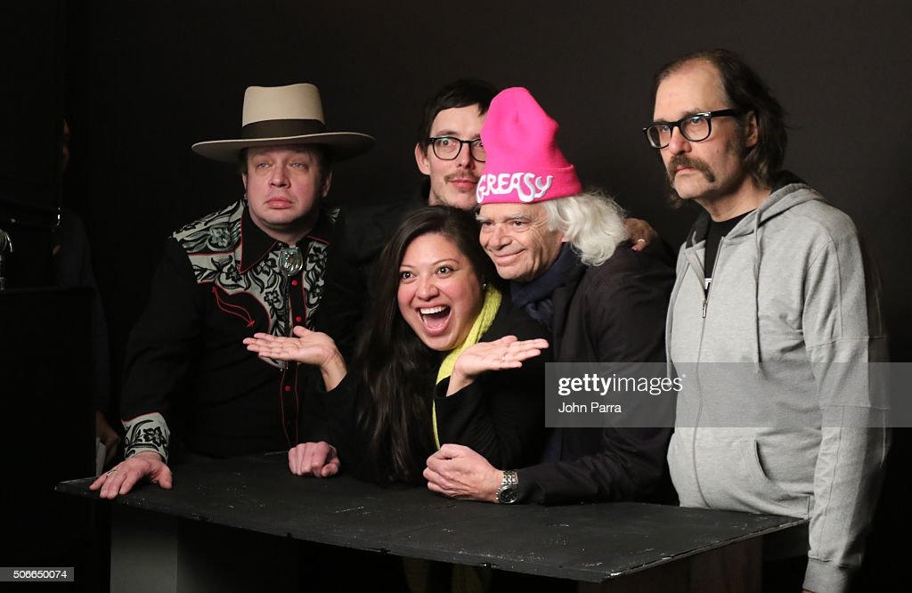 Jim Hosking,Sky Elobar,Elizabeth De Razzo and Michael St Michaels from the film ''The Greasy Strangler' attended The Hollywood Reporter 2016 Sundance Studio At Rock & Reilly's - Day 3 - 2016 Park Cityon January 24, 2016 in Park City, Utah.