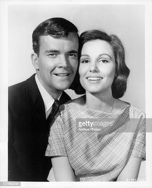 Jim Hutton and Paula Prentiss smiling together in a scene from the film 'Bachelor In Paradise' 1961