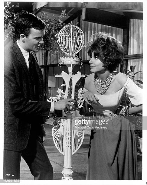 Jim Hutton is approached by Paula Prentiss in a scene from the film 'Looking For Love' 1964