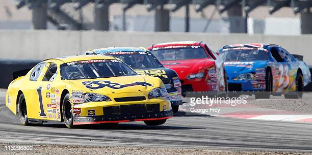 Jim Inglebright races to a third place finish at the NASCAR KN Pro Series West at Miller Motorsports Park on April 30 2011 in Tooele Utah