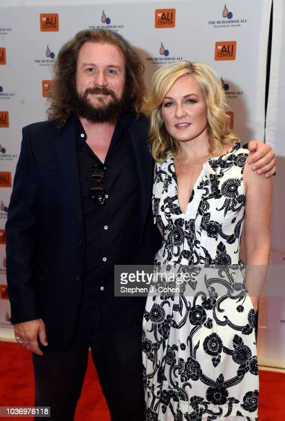 Jim James and Amy Carlson attends the 2018 Muhammad Ali Humanitarian Awards on September 20 2018 in Louisville Kentucky