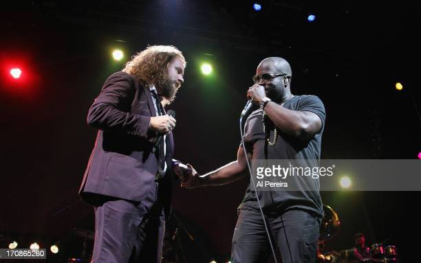 Jim James of My Morning Jacket and Tariq Black Thought Trotter of The Roots perform at State of the Union An Evening of Collaborative Performances to...