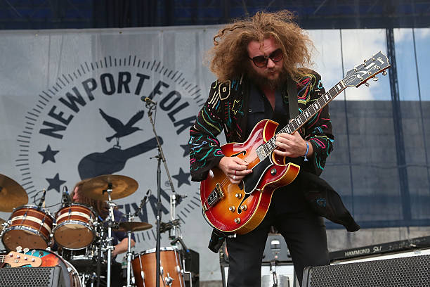Jim James of My Morning Jacket as they perform a surprise...