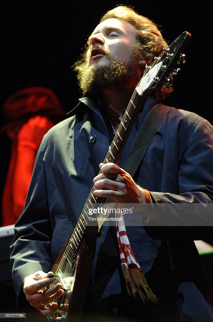 Jim James of My Morning Jacket performs as part of the Sasquatch Music Festival at the Gorge Amphitheatre on May 29, 2010 in George, Washington.