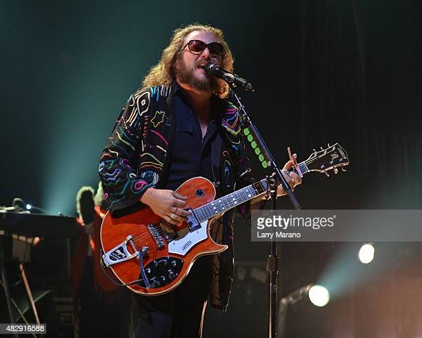 Jim James of My Morning Jacket performs at The Fillmore on August 3 2015 in Miami Beach Florida