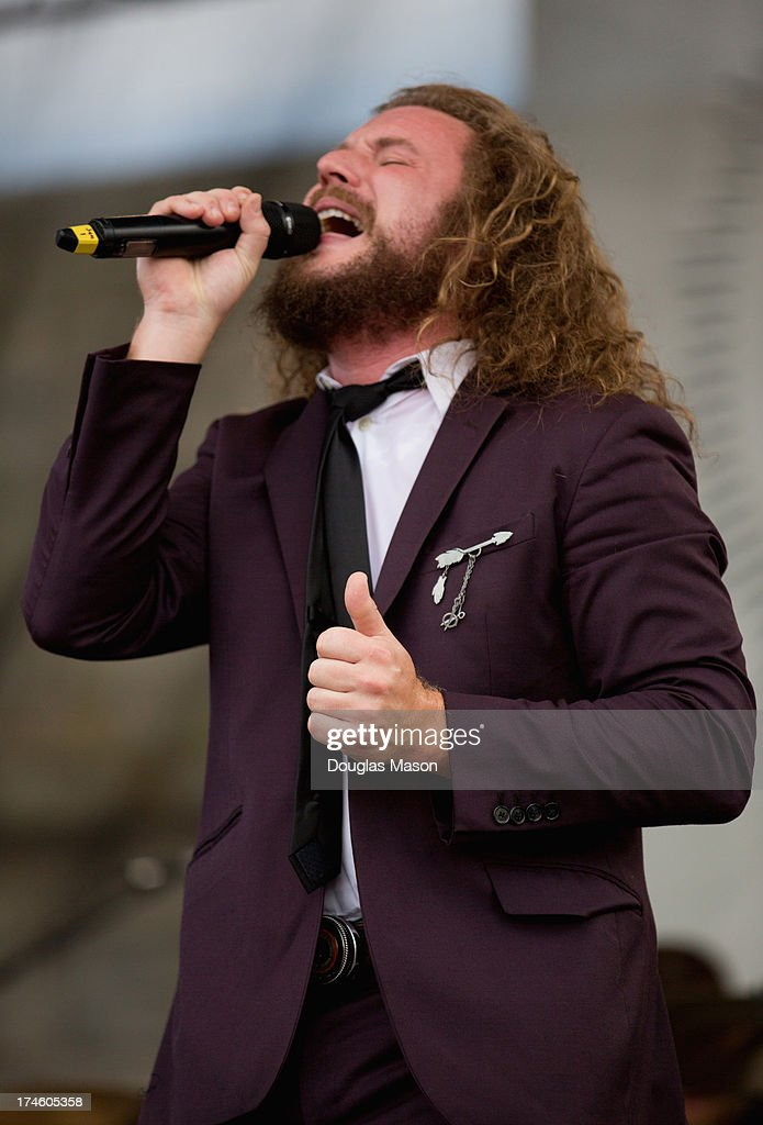 Jim James of My Morning Jacket performs during the 2013 Newport Folk Festival at Fort Adams State Park on July 27, 2013 in Newport, Rhode Island.