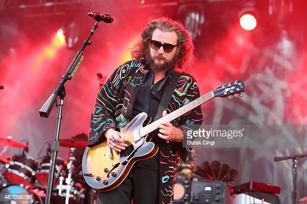 Jim James of My Morning Jacket performs on day 2 of End of the Road Festival at Larmer Tree Gardens on September 5 2015 in Farnham Dorset