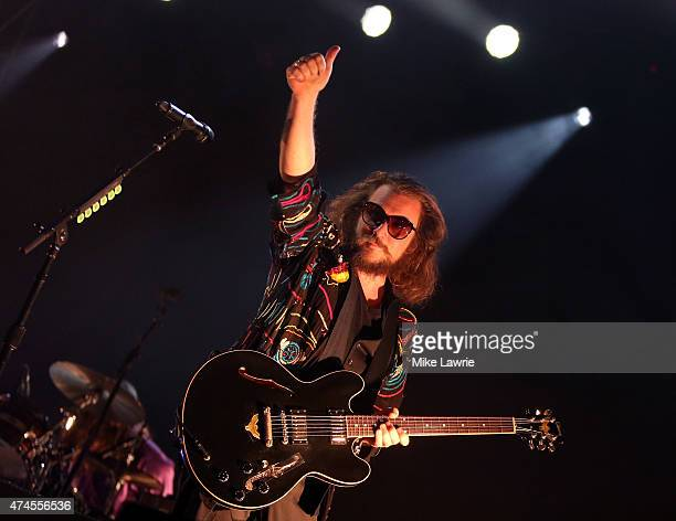 Jim James of My Morning Jacket performs onstage during Boston Calling Music Festival Day 2 at Boston City Hall Plaza on May 23 2015 in Boston...