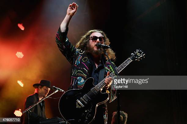 Jim James of My Morning Jacket performs onstage during the 2015 Governors Ball Music Festival at Randall's Island on June 5 2015 in New York City