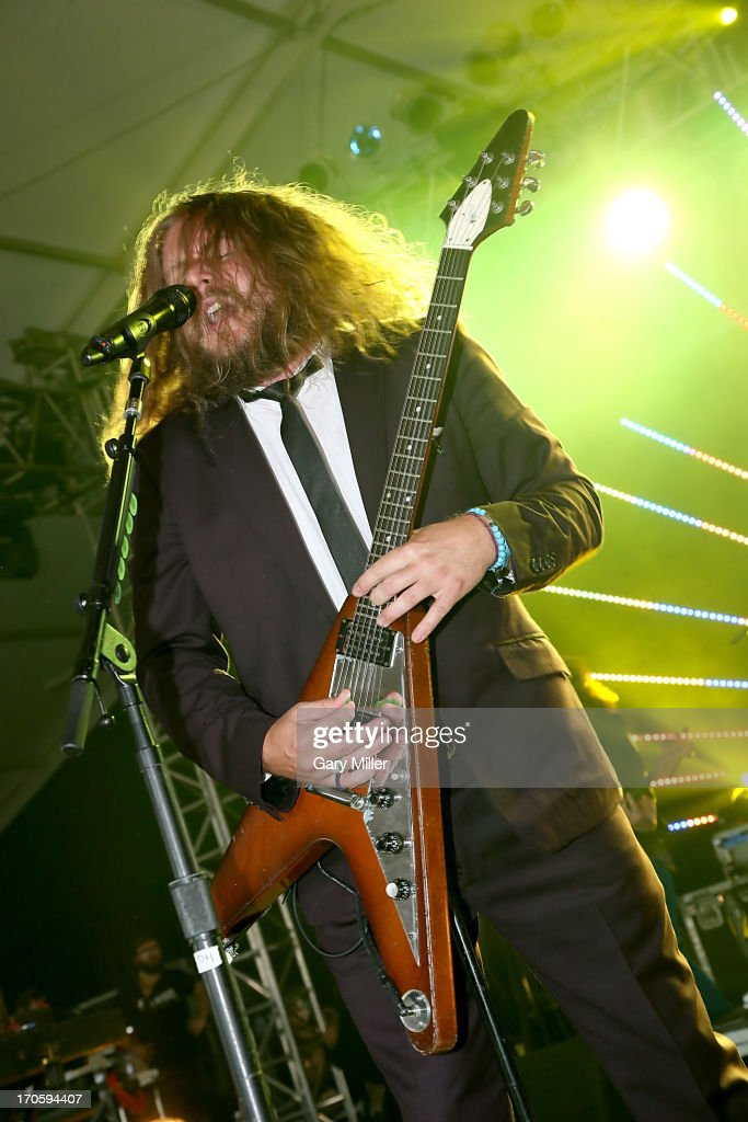 Jim James performs during the 2013 Bonnaroo Music & Arts Festival on June 14, 2013 in Manchester, Tennessee.