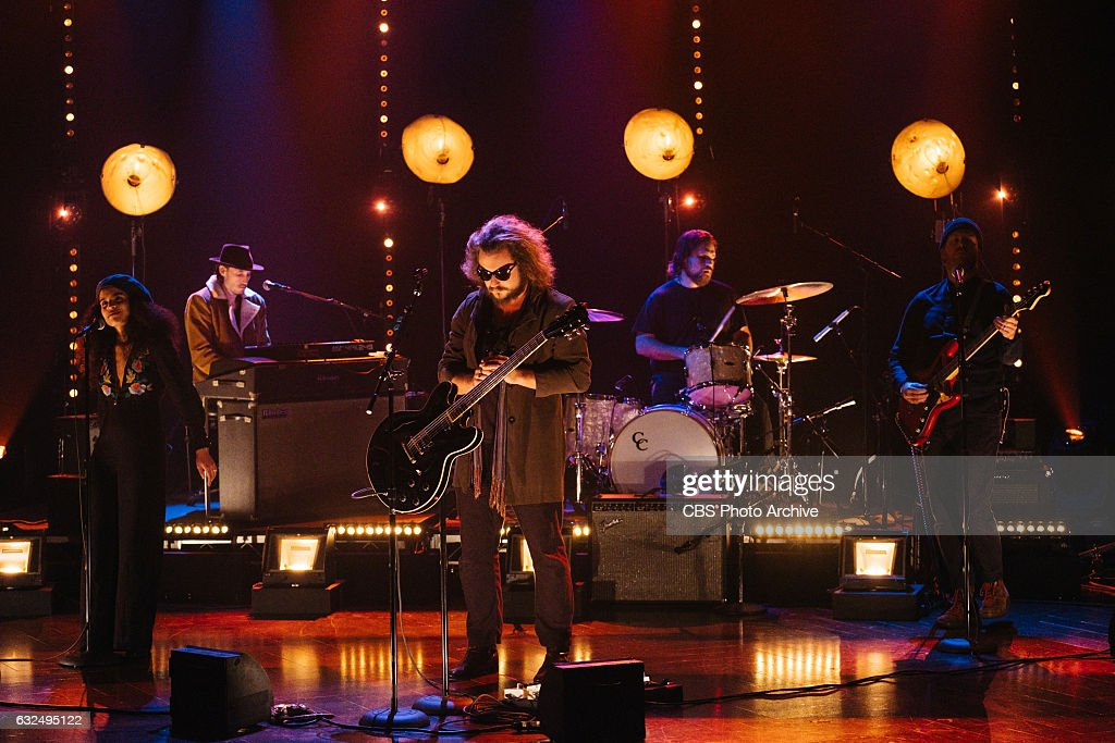 Jim James performs during 'The Late Late Show with James Corden,' Tuesday, January 17, 2017 (12:35 PM-1:37 AM ET/PT) On The CBS Television Network.