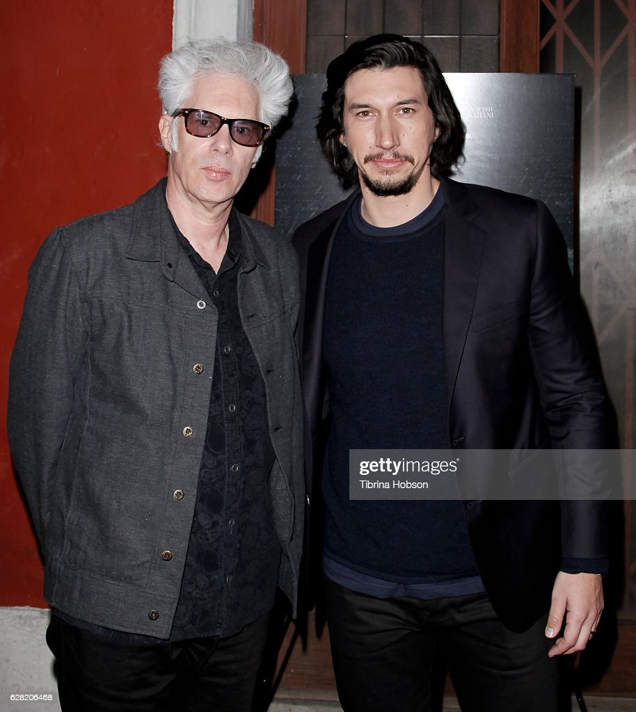 Jim Jarmusch and Adam Driver attend the Screening of Amazon Studios 'Paterson' at the Vista Theatre on December 6, 2016 in Los Angeles, California.