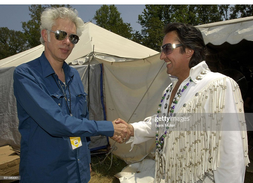 Jim Jarmusch and Chuck Baril during Bonnaroo 2007 - Day 3 - Backstage at Artist Hospitality in Manchester, Tennessee, United States.
