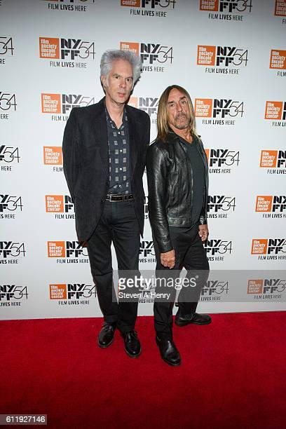 Jim Jarmusch and Iggy Pop attend the 54th New York Film Festival Gimme Danger Intro And QA at Alice Tully Hall Lincoln Center on October 1 2016 in...