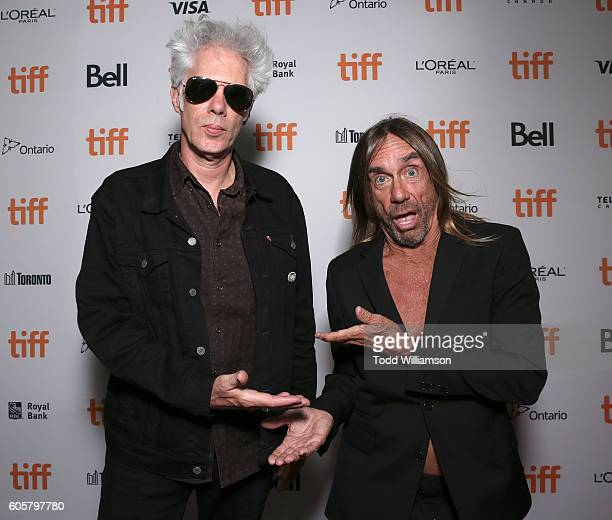 "Jim Jarmusch and Iggy Pop attend the Premiere of Amazon Studios' ""Gimme Danger"" at the Toronto International Film Festival at Ryerson Theatre on..."