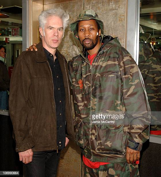 Jim Jarmusch and The RZA during The Cinema Society and Guerlain Present a Screening of 'The Black Dahlia' After Party at Soho Grand Penthouse in New...