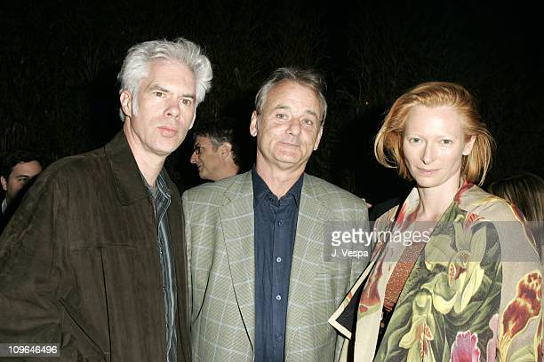 Jim Jarmusch, Bill Murray and Tilda Swinton during 2005 Cannes Film Festival - Focus Features Party at La Biole in Cannes, France.