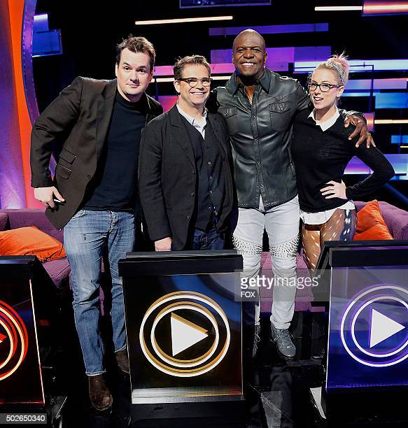 LR Jim Jefferies Dana Gould Terry Crews and Iliza Shlesinger in the allnew Low Selfie Esteem episode of WORLDS FUNNIEST airing Friday Dec 4 on FOX