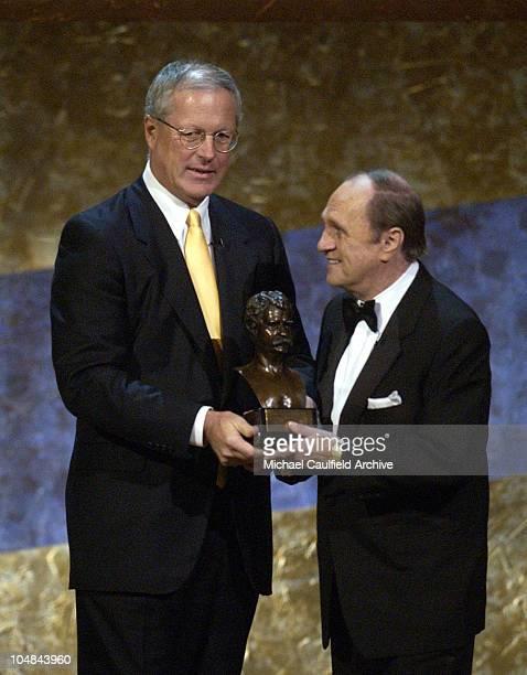 "Jim Johnson & Bob Newhart during The 5th Annual Kennedy Center Mark Twain Prize Celebrating Bob Newhart - Show - ""On Stage at the Kennedy Center: The..."