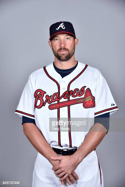 Jim Johnson of the Atlanta Braves poses during Photo Day on Tuesday February 21 2017 at Champion Stadium in Lake Buena Vista Florida
