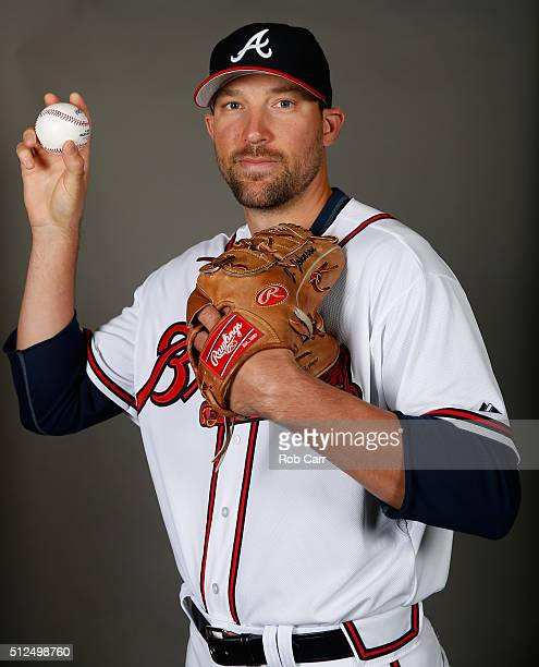 Jim Johnson of the Atlanta Braves poses on photo day at Champion Stadium on February 26 2016 in Lake Buena Vista Florida