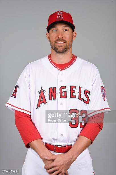 Jim Johnson of the Los Angeles Angels poses during Photo Day on Thursday February 22 2018 at Tempe Diablo Stadium in Tempe Arizona