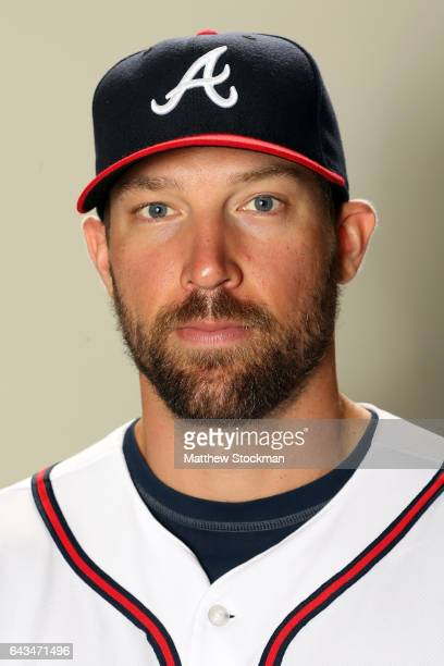 Jim Johnson poses for a portrait during Atlanta Braves Photo Day at Champion Stadium on February 21 2017 in Lake Buena Vista Florida