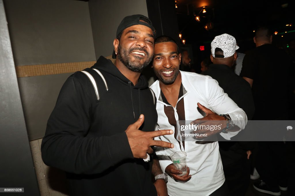 Jim Jones and Chi-Ali arrive at the 2017 BET Hip Hop Awards on October 6, 2017 in Miami Beach, Florida.