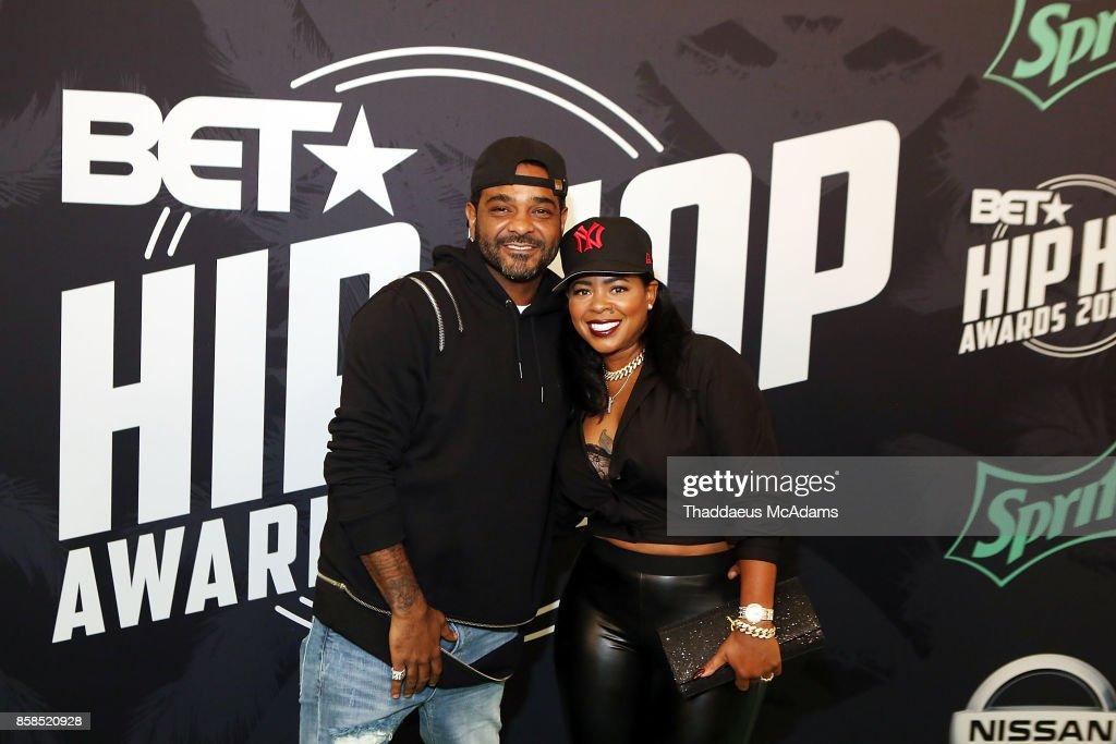 Jim Jones and Marceline Jones attends BET Hip Hop Awards 2017 on October 6, 2017 in Miami Beach, Florida.