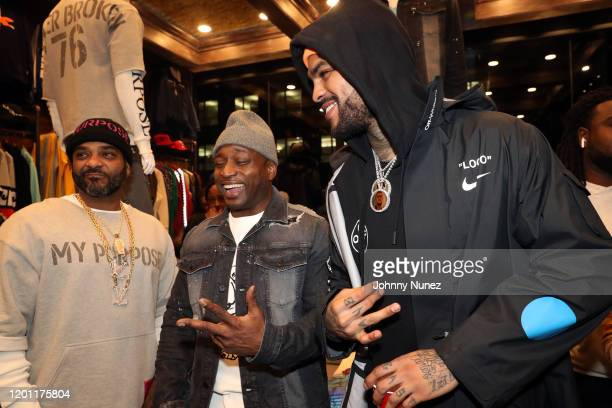 Jim Jones, Freekey Zekey, and Dave East attend the Jim Jones For PRPS Collaboration event on January 21, 2020 in New York City.