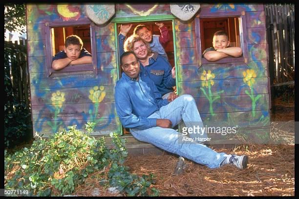 Jim Jones Jr., adopted son of Rev. Jim Jones, w. His wife Erin and sons Robert, Ross and Ryan; Jones Sr. Created the People's Temple at Jonestown,...