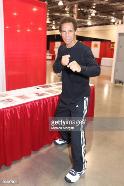 Jim Kelly attends day one of the 21st Anniversary Motor City Comic Con at the Rock Financial Showplace on May 14 2010 in Novi Michigan