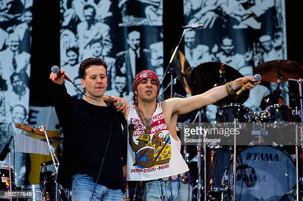 Jim Kerr of Simple Minds and Little Steven perform at the Nelson Mandela Freedom Festival at Clapham Common in London