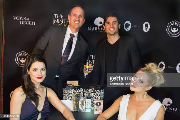 Jim Klock Nick Waters Ali Cobrin and Katherine Bailess attend the Red Carpet screening of 'Vows of Deceit' by The Ninth House and MarVista...