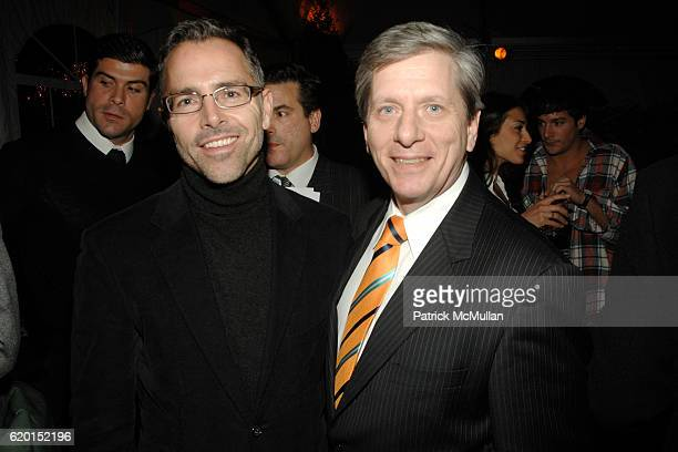 Jim Kloiber and Larry Boland attend THE CINEMA SOCIETY PIAGET host the after party for LAST CHANCE HARVEY at Hudson Hotel on November 19 2008 in New...