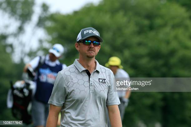Jim Knous during the third round of the Nationwide Children's Hospital Championship held at The Ohio State University Golf Club on August 25 2018 in...