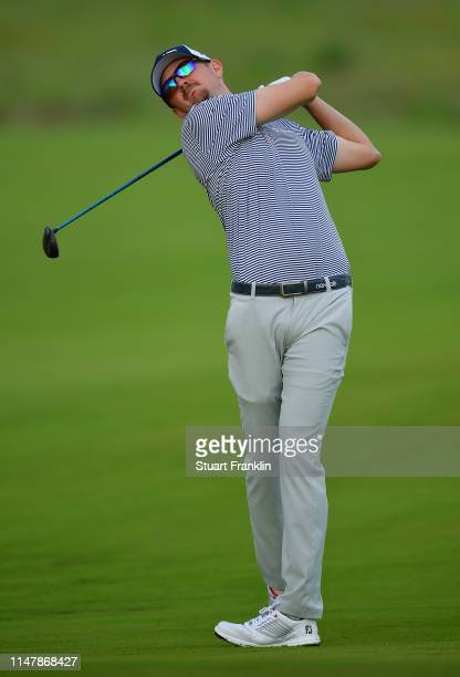 Jim Knous of USA plays a shot during practice prior to the start of the ATT Byron Nelson on May 07 2019 in Irving Texas