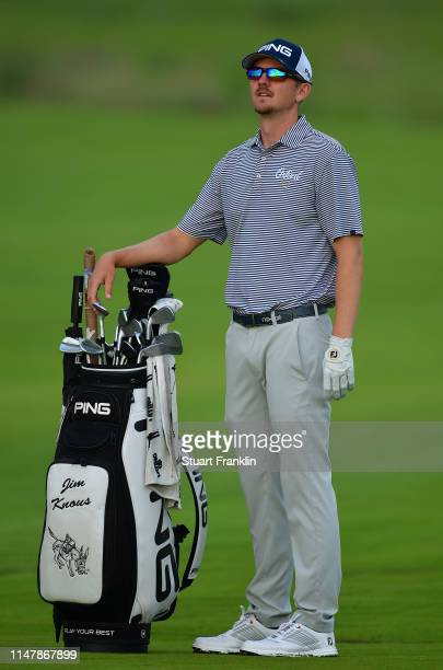 Jim Knous of USA ponders a shot during practice prior to the start of the ATT Byron Nelson on May 07 2019 in Irving Texas