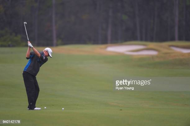 Jim Knous plays a shot on the third hole during the second round of the Webcom Tour's Savannah Golf Championship at the Landings Club Deer Creek Golf...