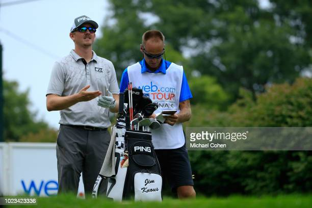 Jim Knous prepares to hit his tee shot on the 17th hole uring the third round of the Nationwide Children's Hospital Championship held at The Ohio...