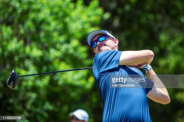 Jim Knous tees off during the final round of the Zurich Classic at TPC Louisiana on April 28 2019 in Avondale Louisiana