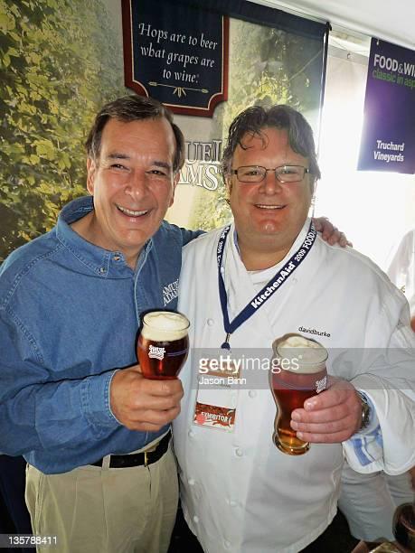 Jim Koch and David Burke pose circa August 2009 in New York City