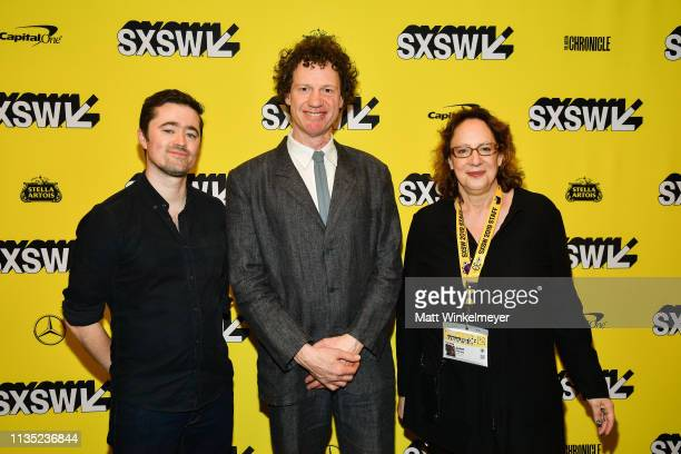 Jim Kolma Chris Morris and Janet Pierson attend the The Day Shall Come Premiere 2019 SXSW Conference and Festivals at Paramount Theatre on March 11...